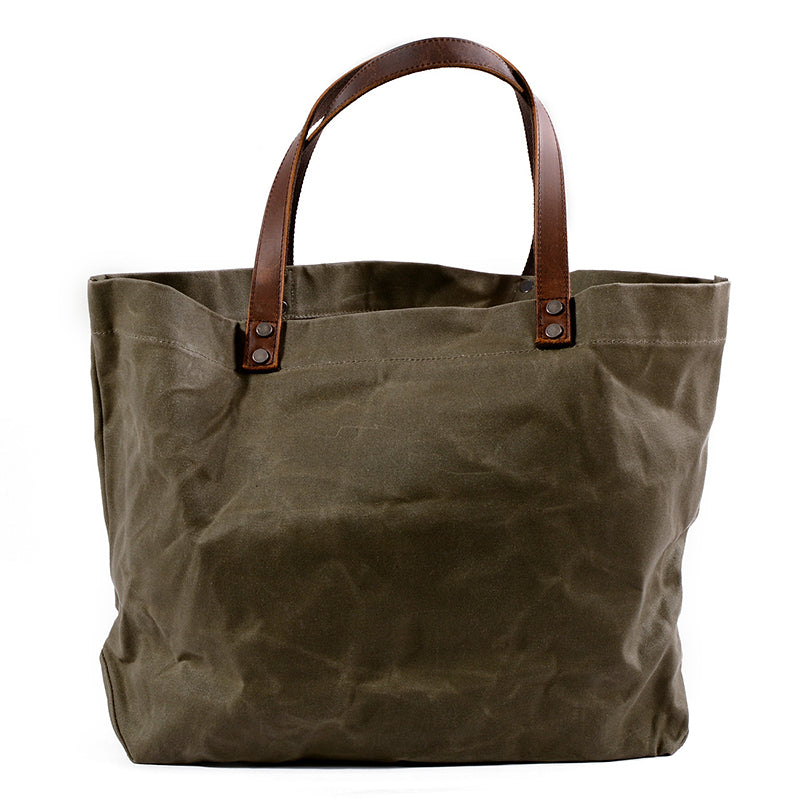 Waterproof Simple Rayon Shoulder Canvas Handbag