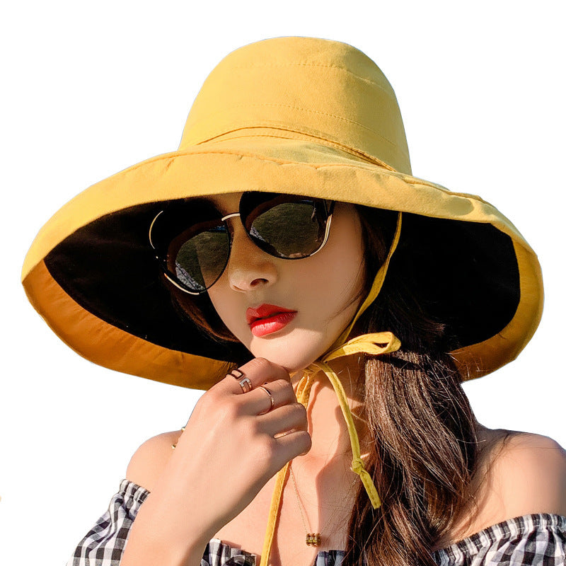 Wide Brim Sun Protection Lacing Bucket Hat