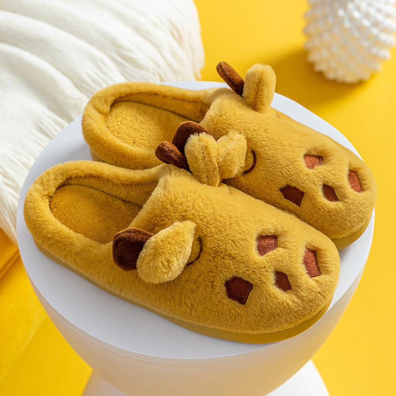 Winter Antlers Indoor Thick Warm Slippers