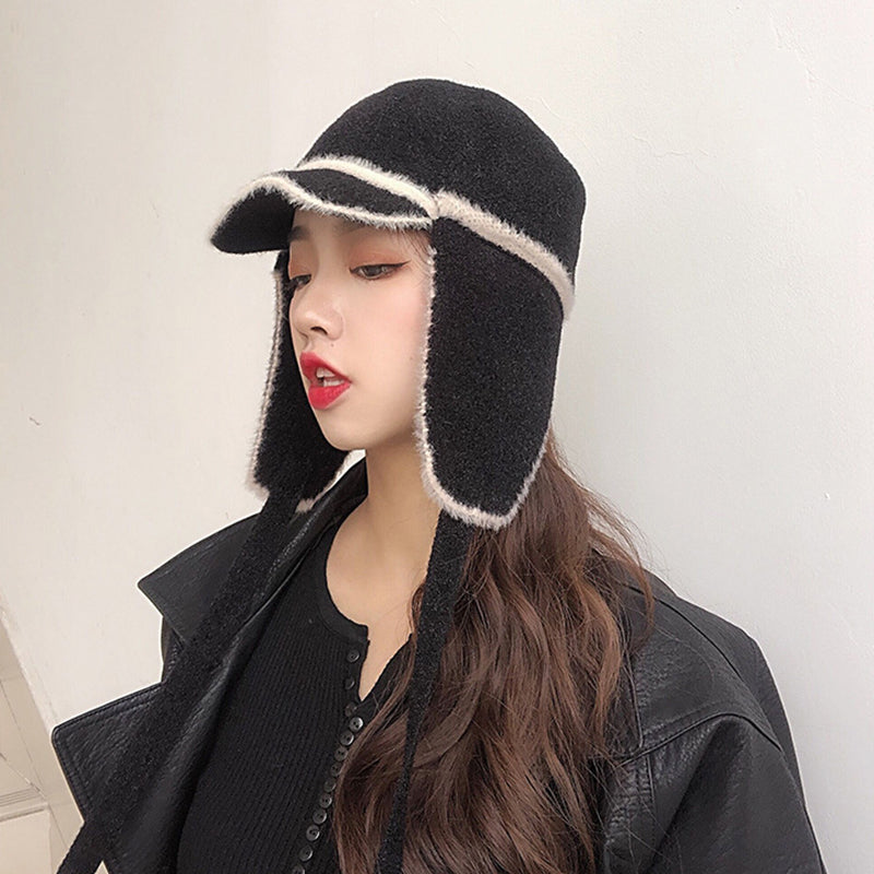 Winter Ear Protector Lacing Baseball Cap