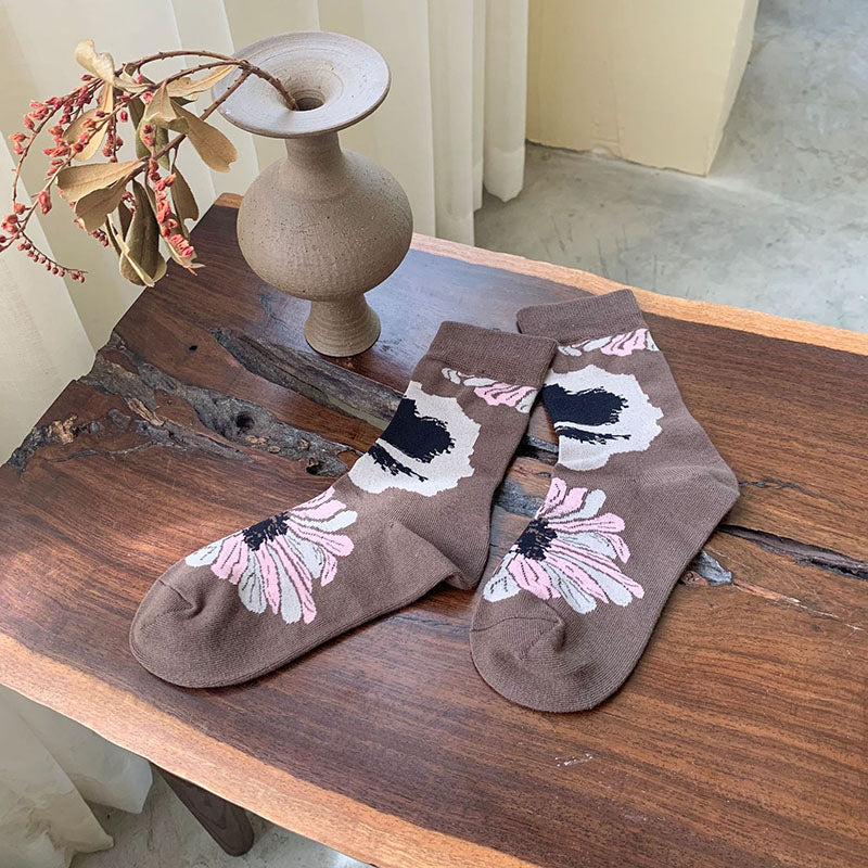 Winter Female Floral Socks(5 Pairs)