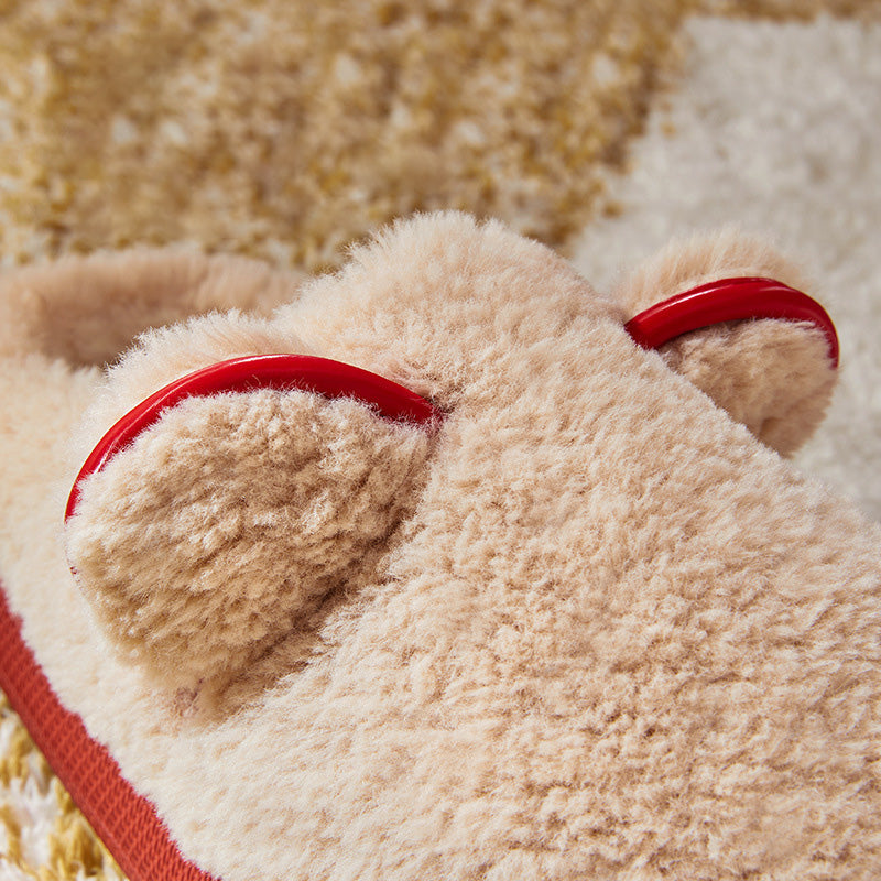 Winter Home Thick Warm Bear Slippers