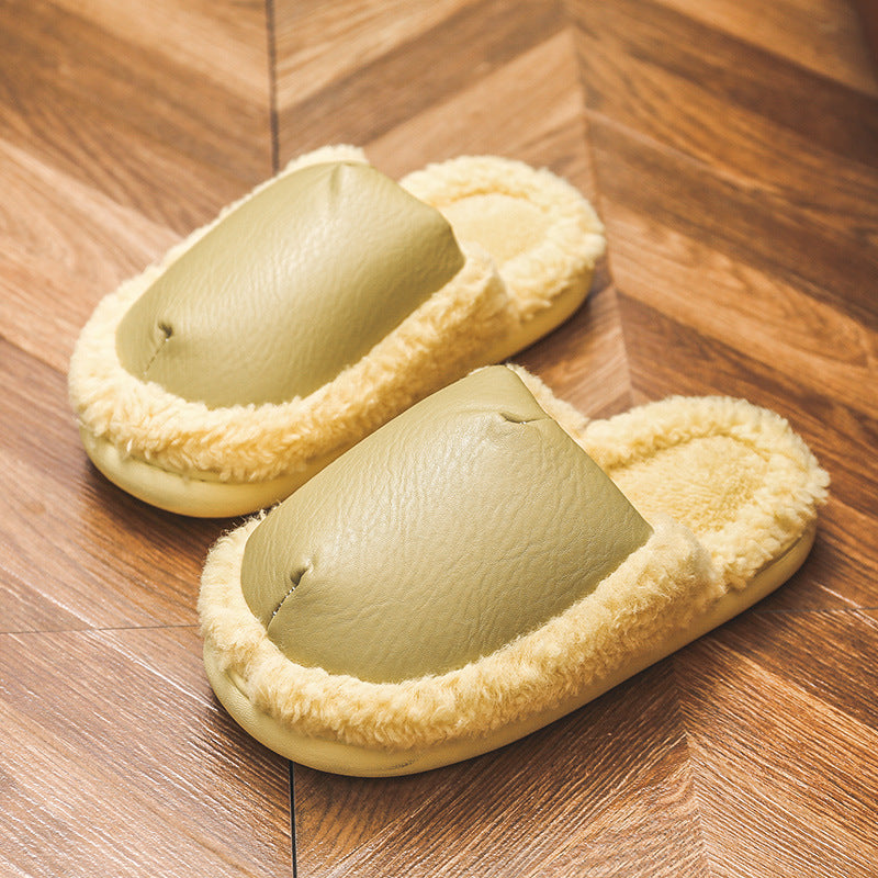 Winter Indoor Warm Fluffy Thick Slippers