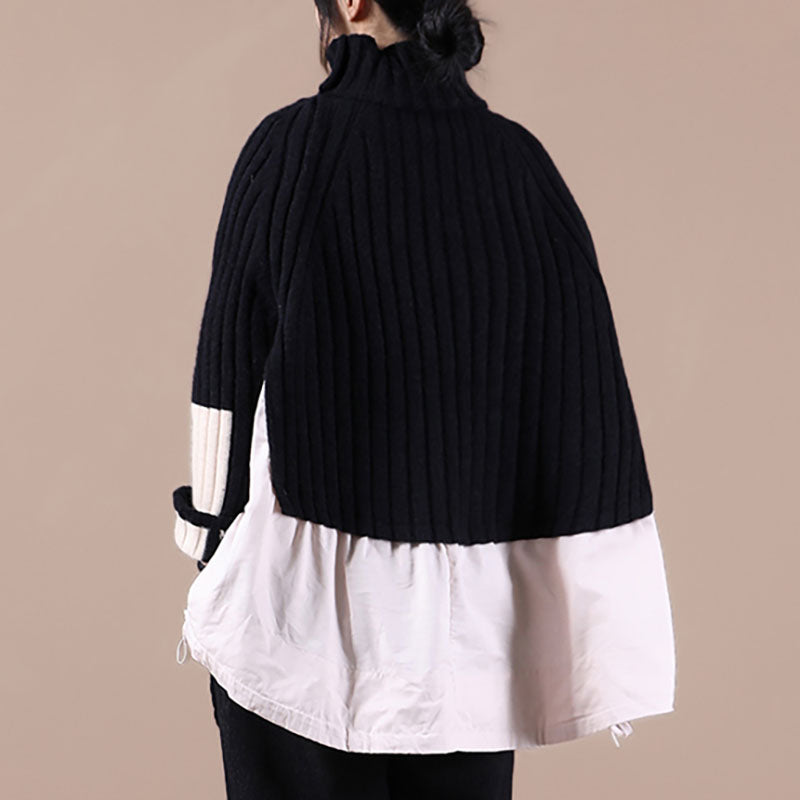 Winter Loose Knitted Irregular Sweater