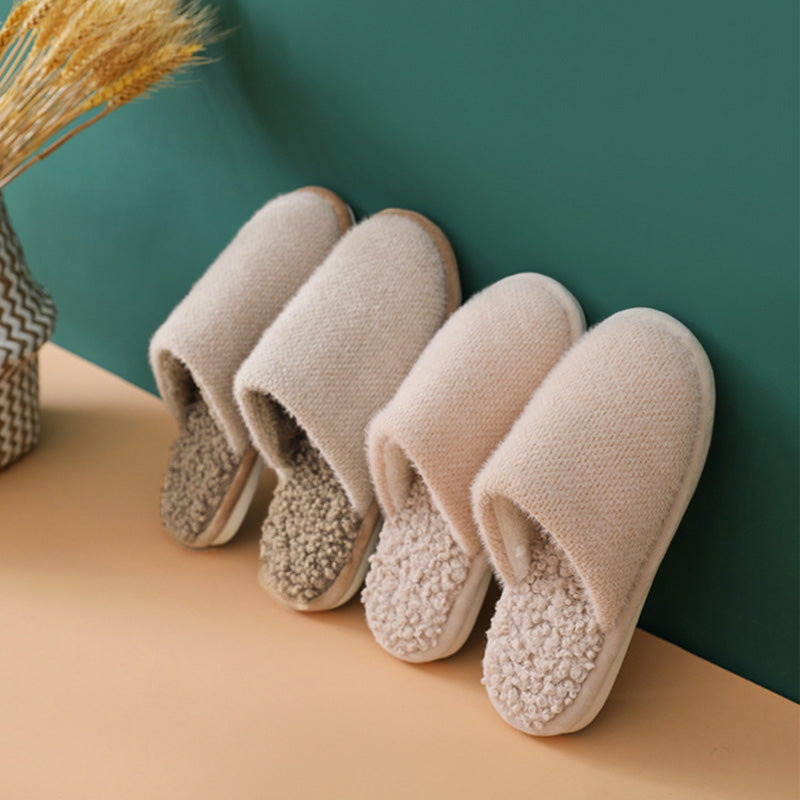 Winter Non-slip Thick Warm Home Slippers