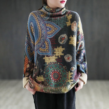 Winter Retro Loose Knitted Sweater