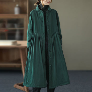 Winter Single Breasted Drape Solid Color Coat