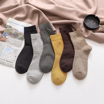 Winter Solid Color Warm Socks(3 Pairs)
