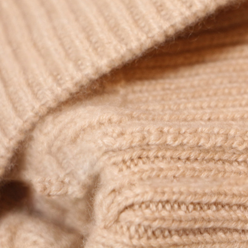 Winter Thick Pure Color Cashmere Knitted Hat