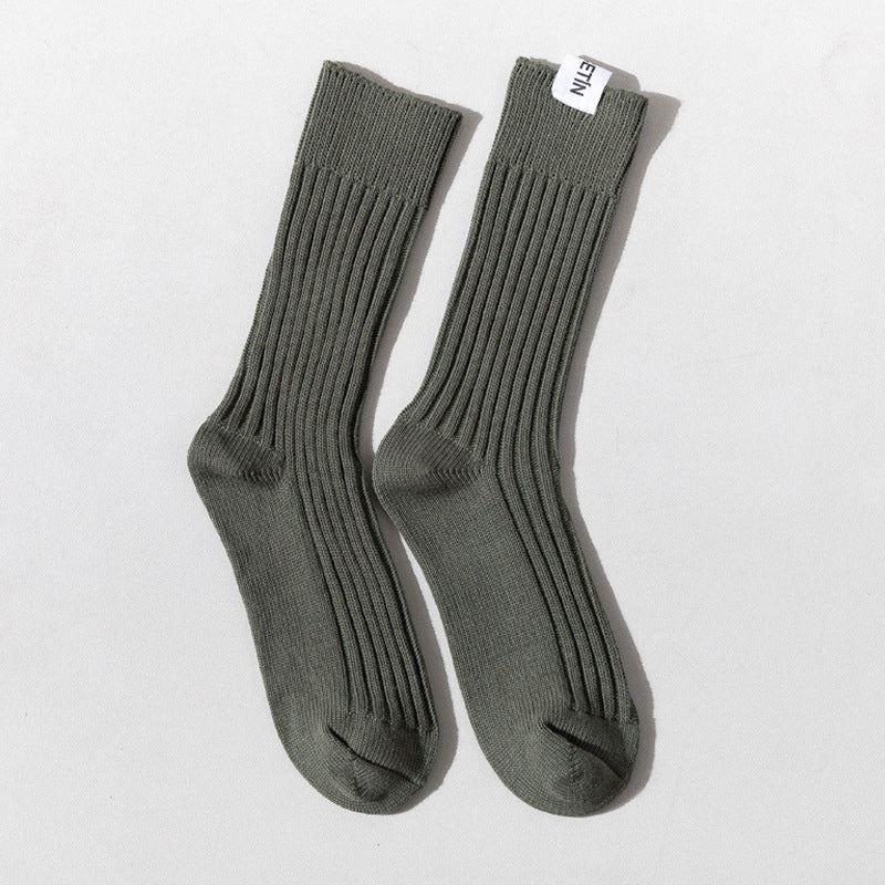 Winter Thick Solid Color Cotton Socks(2 Pairs)