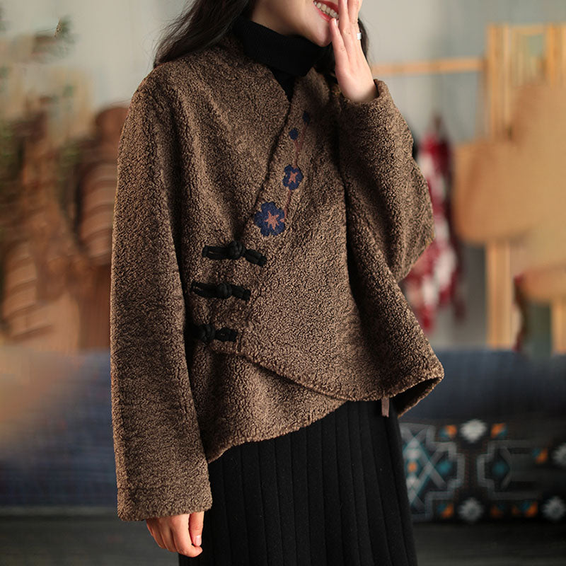 Winter Thicken Warm Embroidered Coat