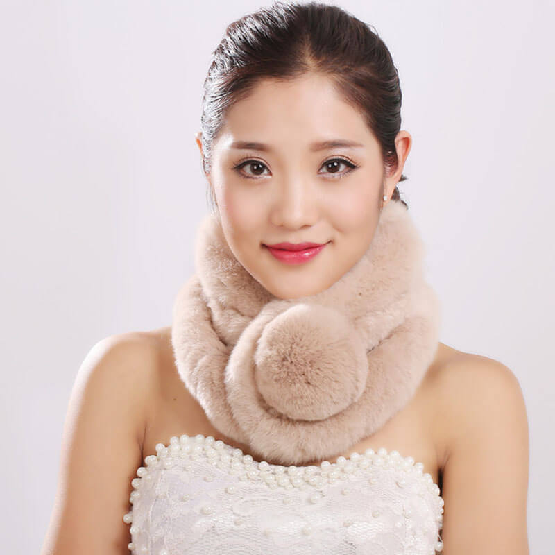 Winter Thicken Warm Rabbit Fur Scarf