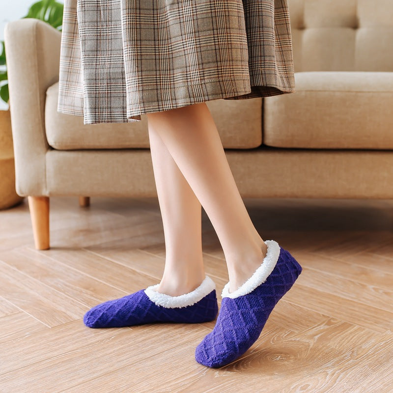 Winter Thickened Plus Velvet Floor Socks(2 Pairs)