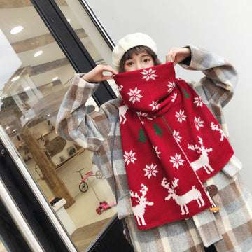 Winter Unisex Christmas Knitted Scarf