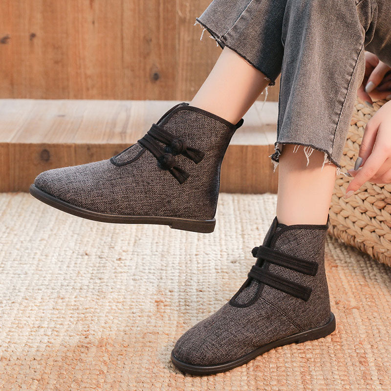 Winter Warm Casual Cotton Flat Boots