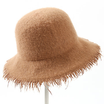 Winter Warm Sunscreen Tassel Pure Color Hat