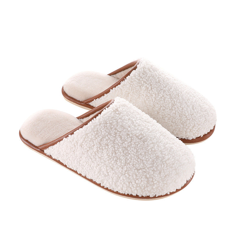 Winter Warm Thick Pure Color Slippers