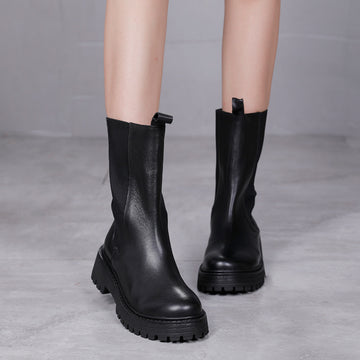 Winter Warm Women Retro Leather Boots