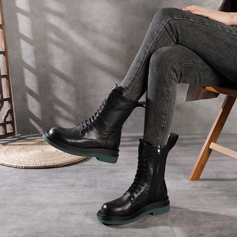 Winter Warm Zipper Lacing Short Boots