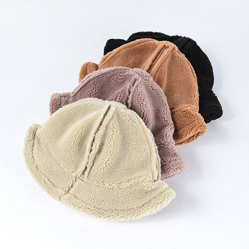 Winter Warm lambswool Pure Color Hat