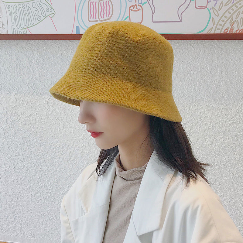 Winter Women Warm Solid Color Knitted Hat