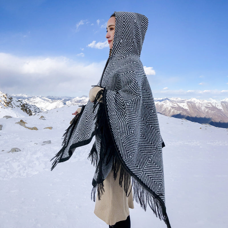 Winter Women Warm Tassel Scarf Shawl