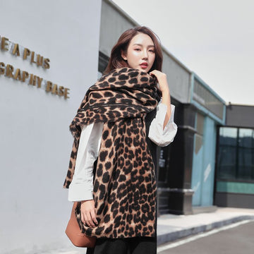 Winter Fashion Leopard Scarf Shawl