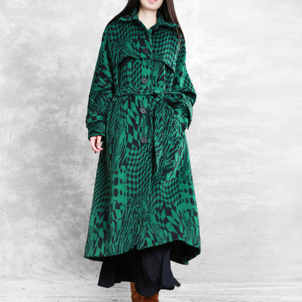Winter Fashion Turn-down Collar Loose Overcoat