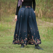 Winter Floral Printed Soft Comfort Wide Leg Pants