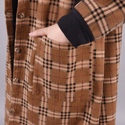 Winter Plaid Loose Casual Warm Overcoat