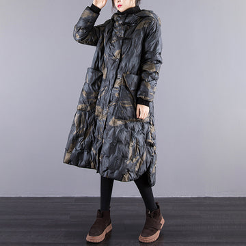 Winter Printed Casual Thermal Down Coat