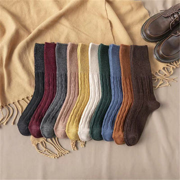 Winter Solid Color Thermal Socks - 3 Pairs