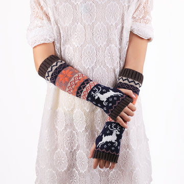 Winter Thermal Knitted Arm Warmers