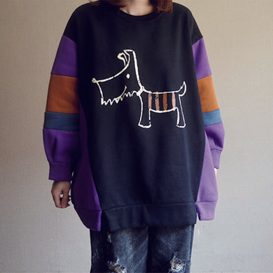 Winter Thick New Velvet Purple Sweatshirt