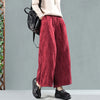 Winter Women Vintage Retro Wide Leg Pants