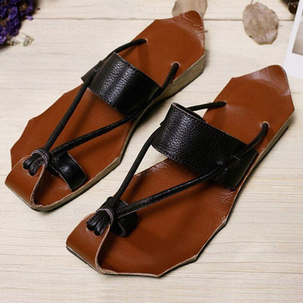 Women Summer Leather Sandals - Buykud