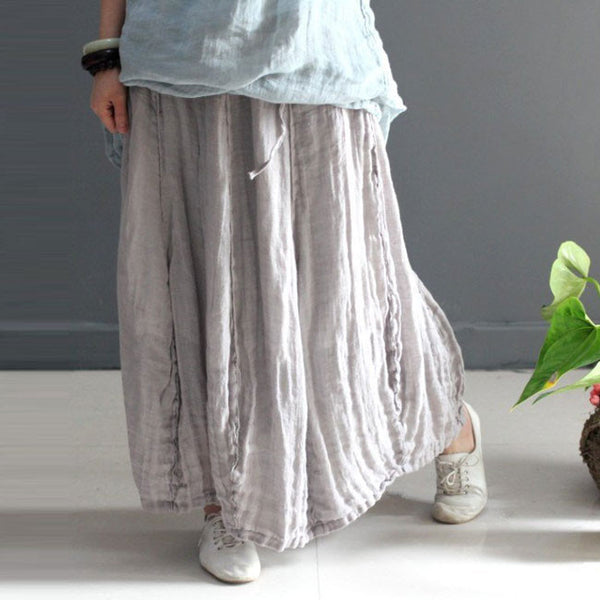 Women summer linen skirt