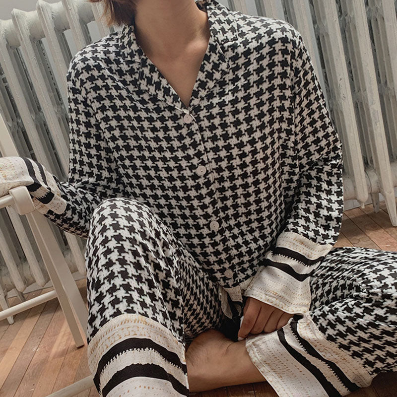 Women Autumn Casual Pajamas Two Piece Sets