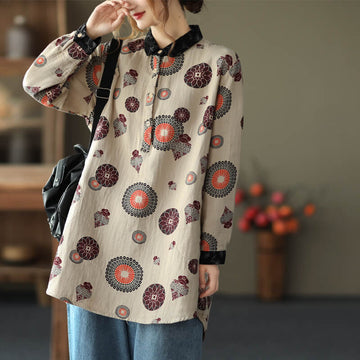 Autumn Print Pocket Shirt