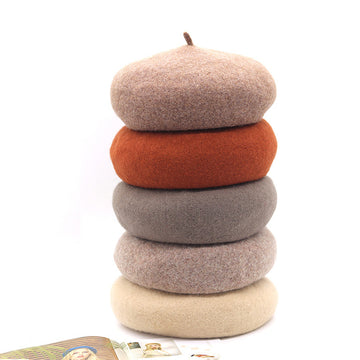 Women Autumn Warm Wool Felt Berets