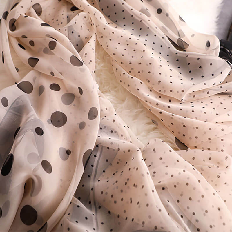 Women Beach Seaside Sunscreen Dots Shawl Scarf