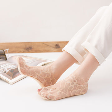 Women Breathable Lace Thin Mesh Socks(3 Pieces)