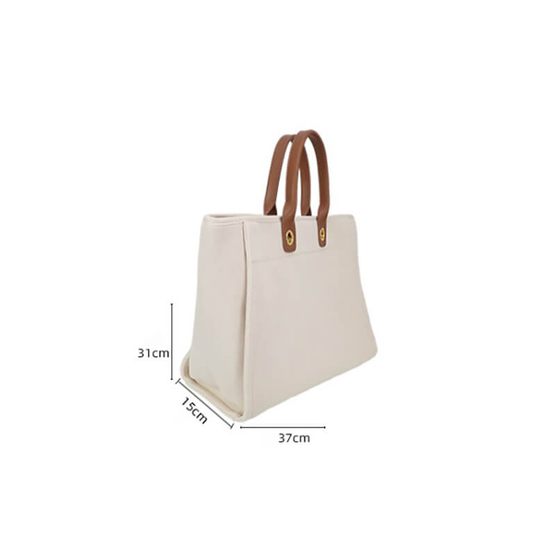 Women Business Pure Color Canvas Shoulder Bag