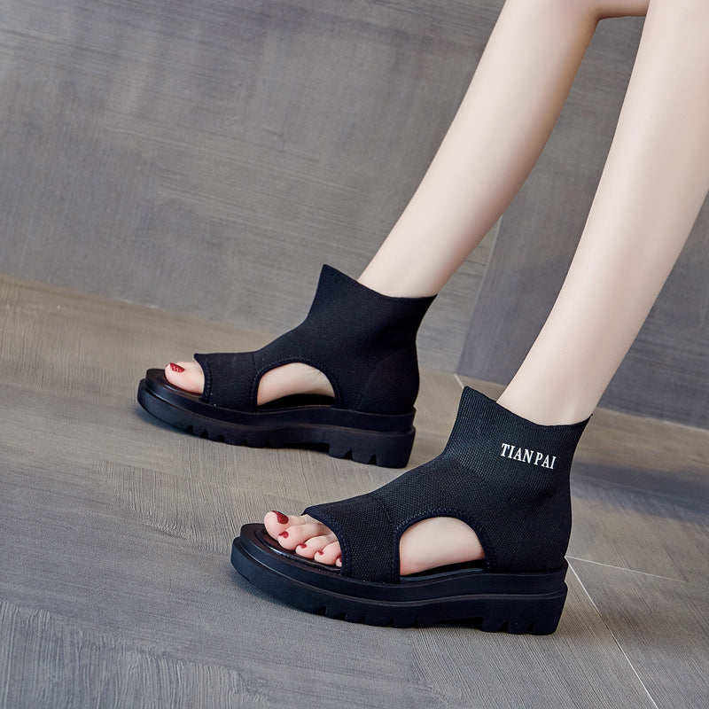 Women Casual Hollow Thick-soled Shoes