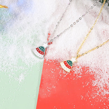 Women Christmas Tree Pendant Necklace