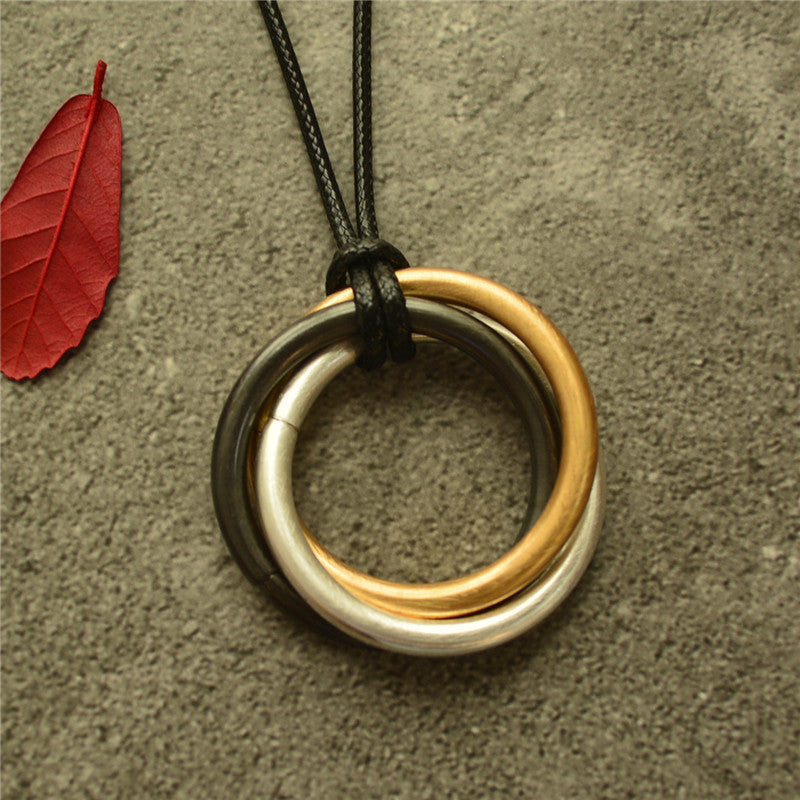 Women Circle Winding Sweater Necklace(2 Pieces)