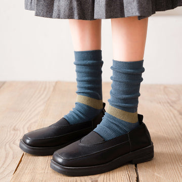 Women Color Contrast Striped Socks(3 Pairs)