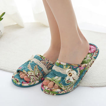 Women Daily Simple Casual Floral Indoor Slippers(2 Pairs)