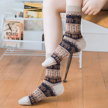 Women Elastic Stocking Socks(5 Pairs)