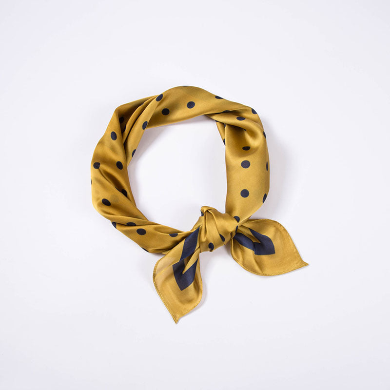 Women Elegant Dot Silk Scarf Headband